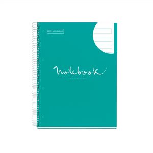 Miquelrius A4 160 Pages Spiral Emotions Turquoise