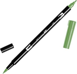 Tombow Dual Brush Pen ABT 158 Dark Olive
