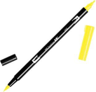 Tombow Dual Brush Pen ABT 055 Process Yellow